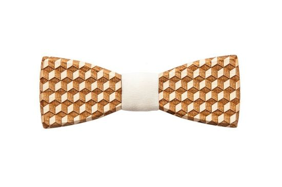 BeWooden - wooden bow tie Cubo handmade with love