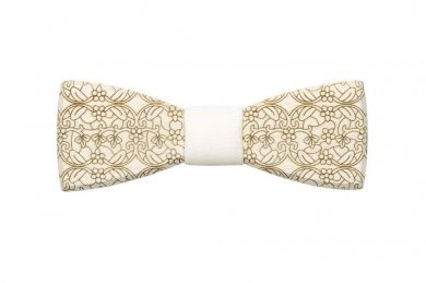wooden bow tie Revio produced sustainably wedding