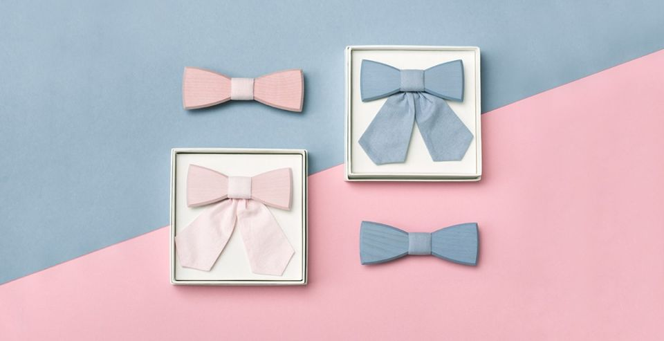 BeWooden - Simple Wooden bow ties for couples