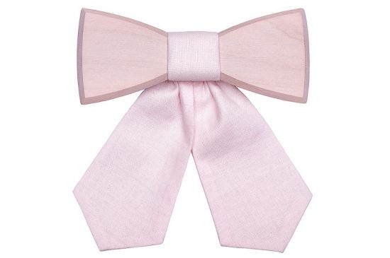 Simple Wooden bow tie Dea Rose