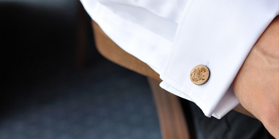 BeWooden - Wooden Cufflinks Ave