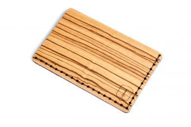 Wooden Card Holder Linea Note