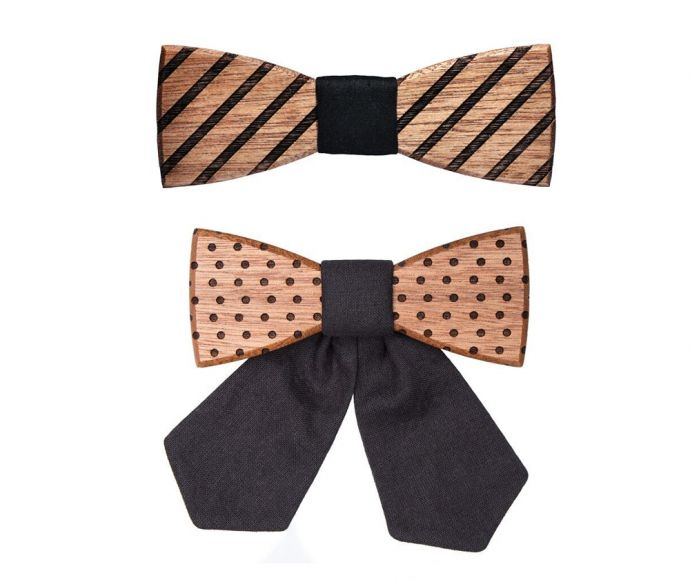 Wooden bow tie Fora & Buteo