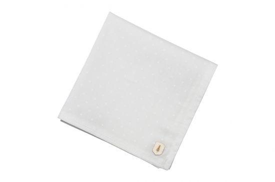 BeWooden - pocket Square suit unique white dots square