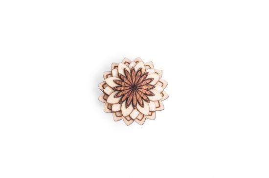 BeWooden - Lapel ornament Cubo Flower for men