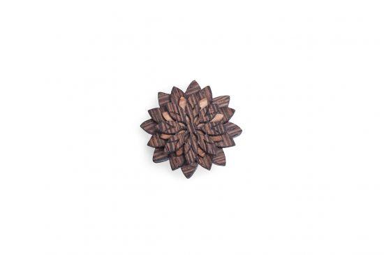 BeWooden - Lapel ornament for men Deco Flower