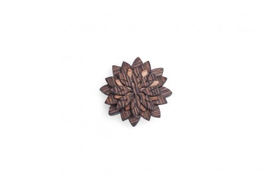 BeWooden - Lapel ornament for men Deco Flower