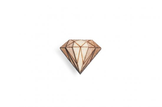 BeWooden - Lapel ornament for men Diamond Lapel