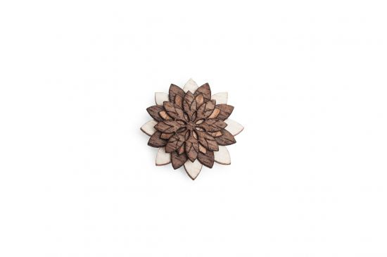 BeWooden - Lapel ornament Illa Flower for men