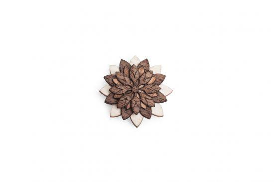 BeWooden - Lapel ornament Illa Flower for men