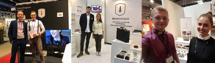 The BeWooden stands with wooden products in Berlin, Stockholm and Paris