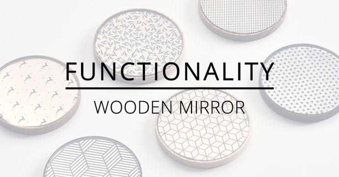 BeWooden Liti Deco Api Vespa Rubi Caleo Wooden Mirror