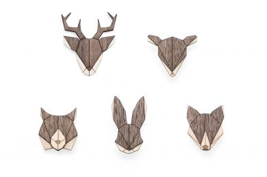 BeWooden - Animal Brooches Set II 1