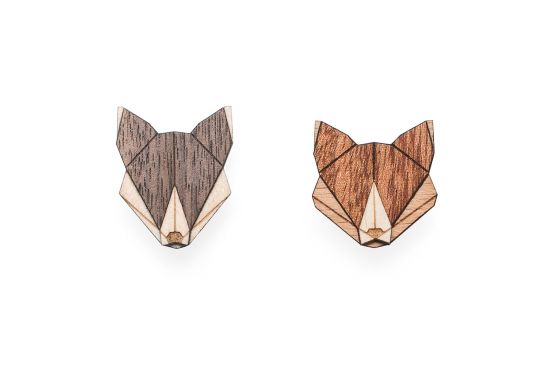 BeWooden - Wolf Fox set 0