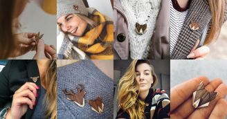 BeWooden - Wooden brooches - inspired by nature