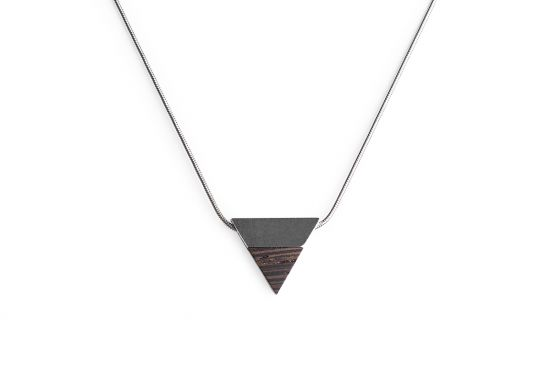 BeWooden - 0 Deco necklace triangle