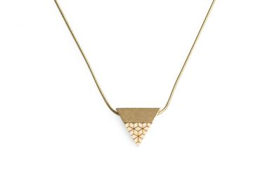 BeWooden - 0 Liti necklace triangle