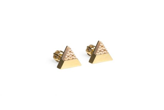 BeWooden - 0 Liti earrings triangle