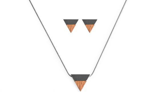 BeWooden - 00 Rubi necklace & earrings set