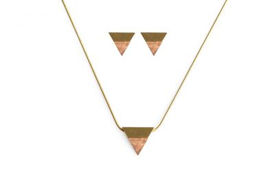 BeWooden - 00 Sole necklace & earrings set
