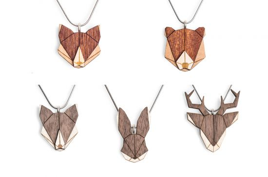 BeWooden - 0 Animal Pendant Set