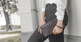 Functionality: Stylish clutch bag