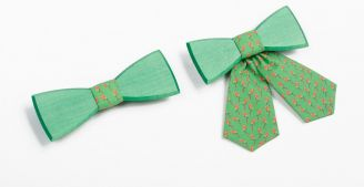 BeWooden - Green bow tie - The perfect summer accessory
