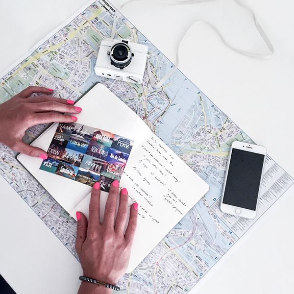 The Ocean Notebook lying on a map