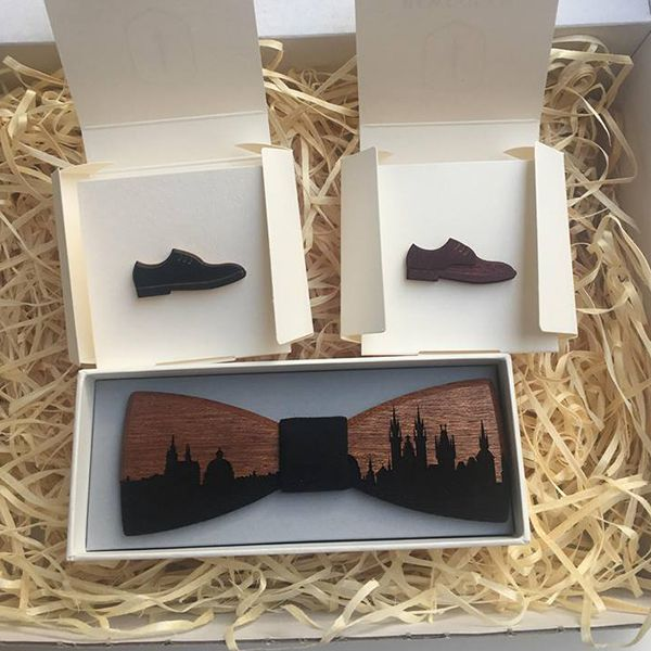 The BeWooden wooden bow tie for the Beauty of Help organisation