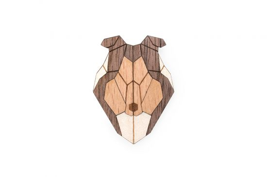 BeWooden - 0 Collie brooch cover