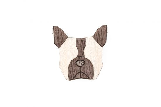 BeWooden - 0 Bulldog brooch cover