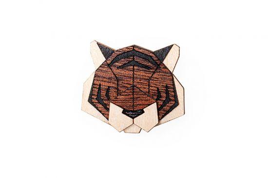 BeWooden - Tiger Brooch