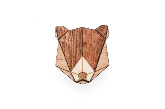 BeWooden - Bear Brooch