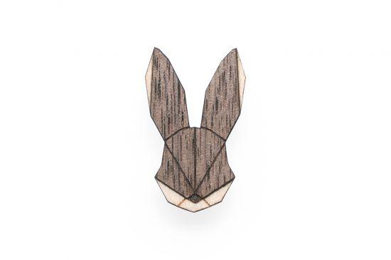 BeWooden - Hare Brooch