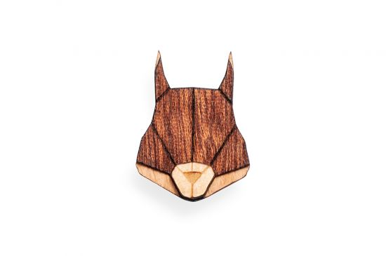 BeWooden - Squirrel Brooch
