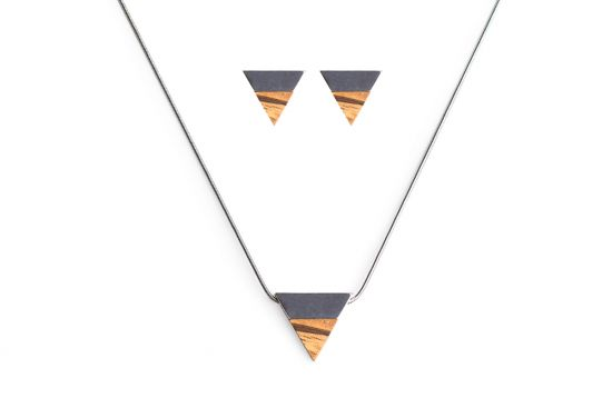 BeWooden - Earrings & Necklace Api Set