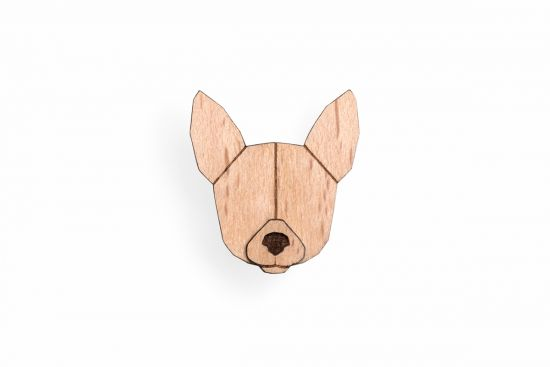 BeWooden - 0 Chihuahua Brooch