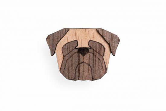 BeWooden - 0 Pug Brooch