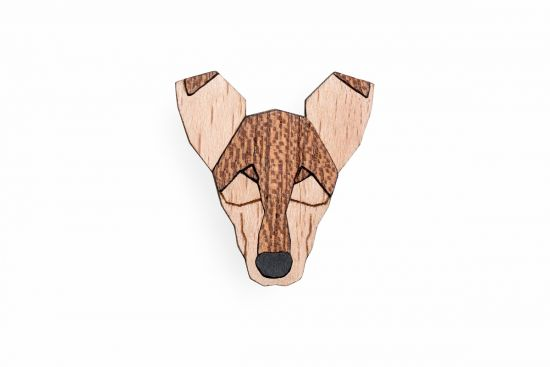 BeWooden - 0 Smooth Collie Brooch