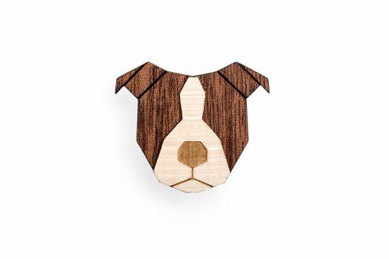 BeWooden - 0 Staffordshire Bull Terrier Brooch