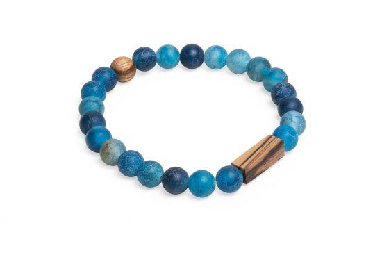 BeWooden - 0 Aqua zebrano bracelet