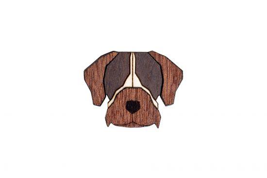 BeWooden - Bohemian Griffon Brooch