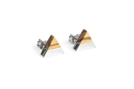 BeWooden - 0 Lini earrings triangle