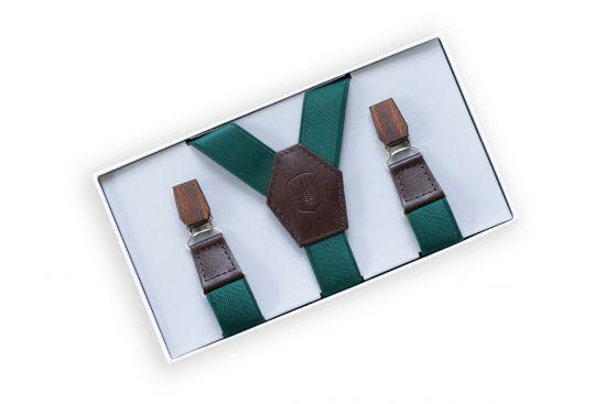 BeWooden - 0 Forest Green suspenders