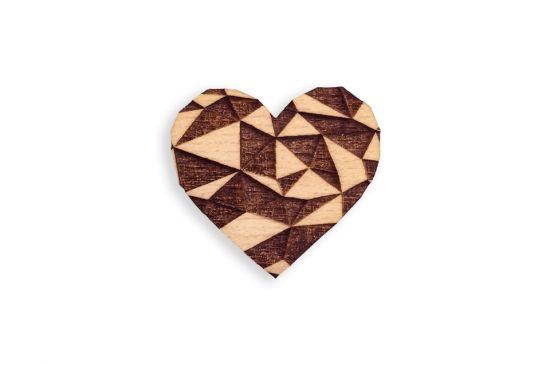 BeWooden - 0 Love Brooch
