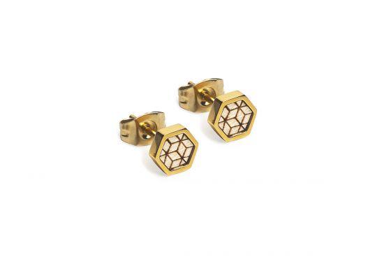 BeWooden - Virie Earrings Hexagon