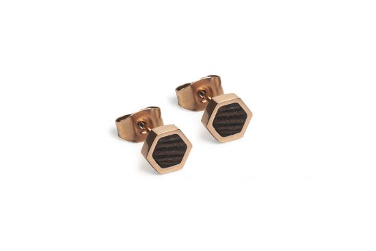 Rose Earrings Hexagon