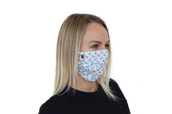 Stylish face mask Paisley Mask BeWooden made from 100% cotton