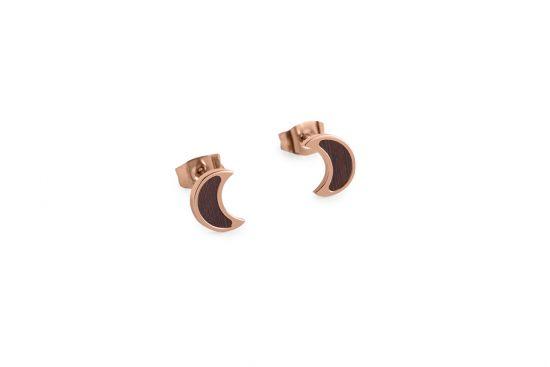 Rose Earrings Halfmoon