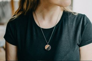 Red Necklace Medallion